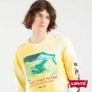 長袖T恤 / 寬鬆休閒版型 / 芥末黃渲染工藝 / 幽默梗圖