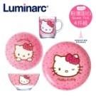 【法國樂美雅】Hello Kitty 4件式餐具組(粉漾甜心