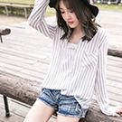 輕透長版長袖襯衫