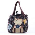 貓咪拼布包 花布 手提包