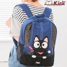 黑貓後背包手提/雙肩/可收納A4