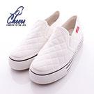 菱格紋縫線造型熱銷厚底鞋-四色