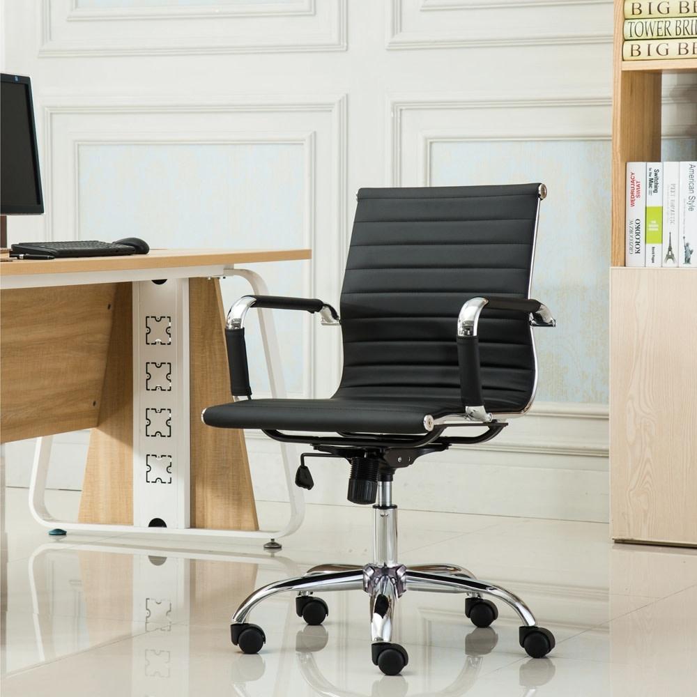 E-home 簡約風扶手電腦椅 新品5折