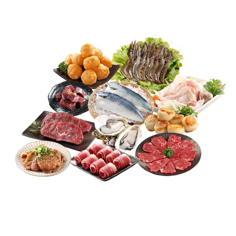 愛上新鮮 烤肉澎湃組 滿額贈牡蠣