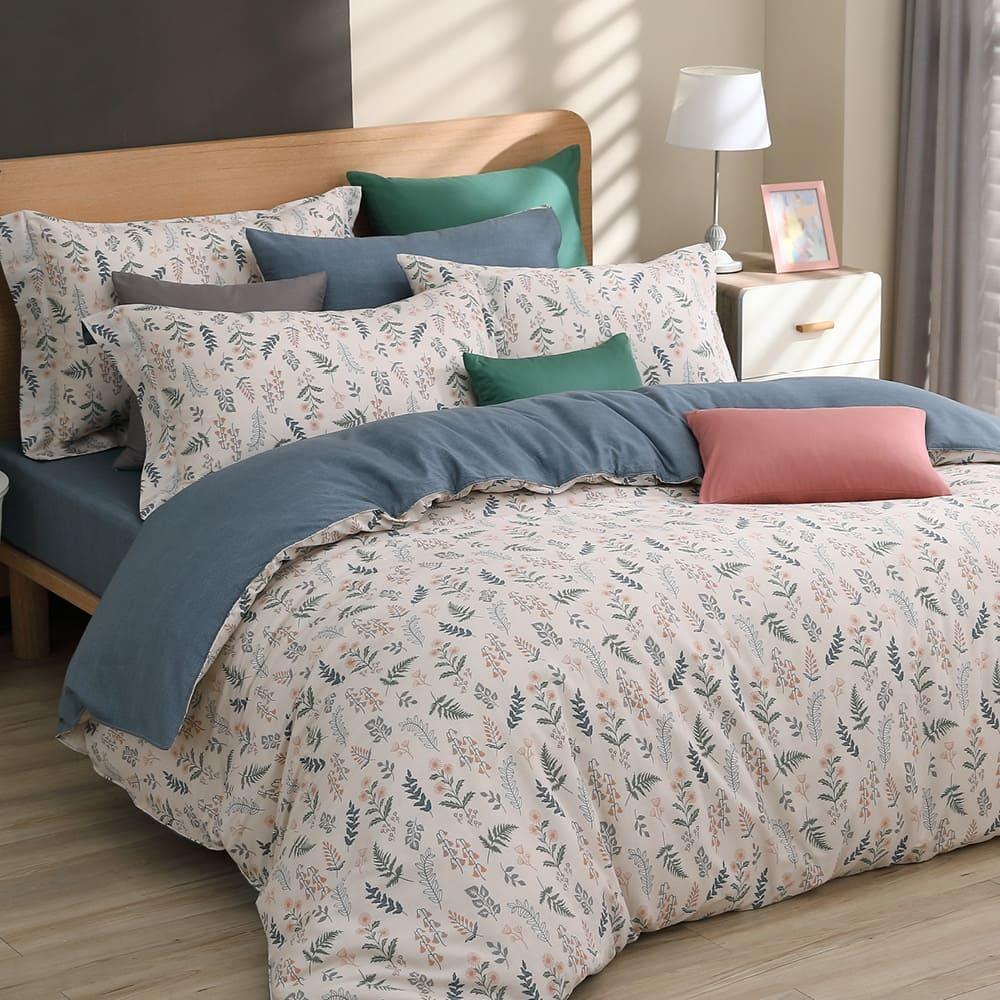 東妮寢飾 100%精梳棉兩用被床包組 雙人任選$2250