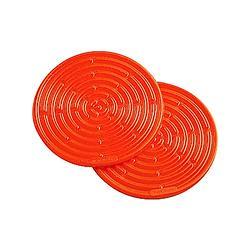 耐熱矽膠迷你隔熱墊2入-火焰橘