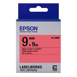 粉彩系列紅底黑字標籤帶(寬度9mm)