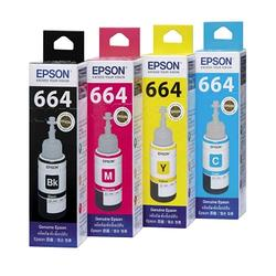 EPSON T664原廠墨水匣組合包(1黑3彩)