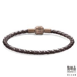 電鍍磁石皮繩 - 咖啡色