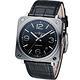 Bell & Ross 經典時尚飛行械機腕錶-黑/39mm product thumbnail 2