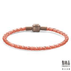 電鍍磁石皮繩 - 粉紅色