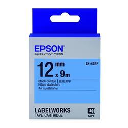粉彩系列藍底黑字標籤帶(寬度12mm)