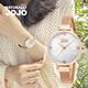 NATURALLY JOJO 優雅洗鍊不鏽鋼米蘭腕錶-白x玫瑰金/33mm product thumbnail 3