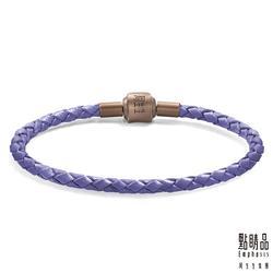 電鍍磁石皮繩 - 紫色
