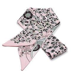 2R 時尚絲巾配件 96cm 森林-粉紅色系
