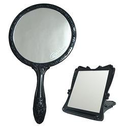 GALATEA古典玫瑰手拿鏡+折疊立鏡