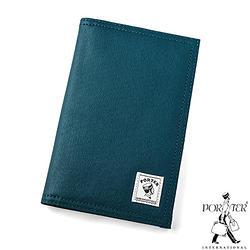 [加價購]PORTER - 帆布護照套-藍色