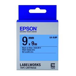 粉彩系列藍底黑字標籤帶(寬度9mm)