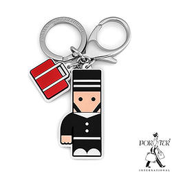 PORTER - 人型吊飾鑰匙圈-黑