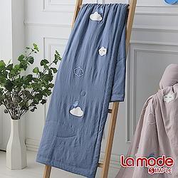 加購品La Mode 森呼吸輕感綿單人涼被-天藍色