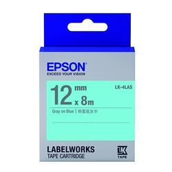 淡彩系列藍底灰字標籤帶(寬度12mm)