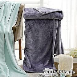 東妮寢飾 素色雙人超細雪芙絨毯-丁香紫