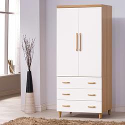 時尚屋 寶格麗2.7x6.4尺衣櫃 寬81cm-免組