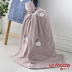 加購品La Mode 森呼吸輕感綿單人涼被-藕粉色