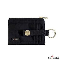 繽紛卡片夾/零錢包 - 黑色