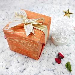 送禮精緻包裝-橘色