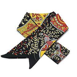 2R 時尚絲巾配件 96cm 森林-黑色系