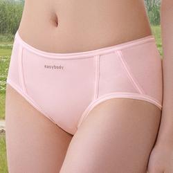 中低腰平口褲(糖果粉)-M