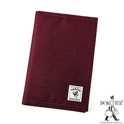 [加價購]PORTER - 尼龍護照套-酒紅色