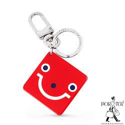 微笑吊飾鑰匙圈 - 紅