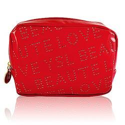 YSL 普普風漆皮包-熱戀紅 原價850