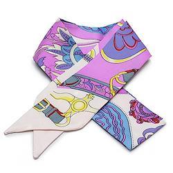 2R 時尚絲巾配件 96cm 心鍊-紫色系
