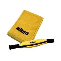 NIKON 運動毛巾組含運動腰包