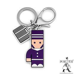 PORTER - 人型吊飾鑰匙圈-煙燻紫