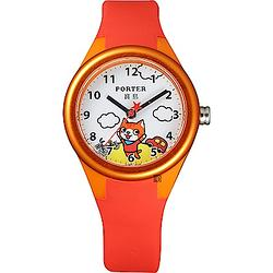PORTER小貓錶-橘紅