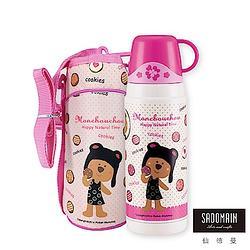 贈品-仙德曼SADOMAIN 法國浣熊寶貝真空保溫瓶-粉紅色系