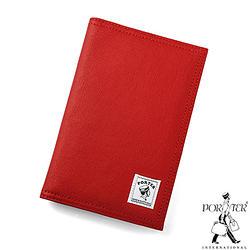 [加價購]PORTER - 帆布護照套-橙紅色