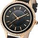 MANGO-閃耀時光晶鑽時尚腕錶-黑-34mm