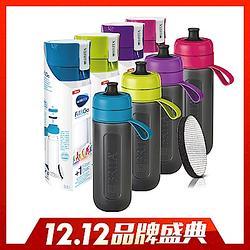 隨身濾水瓶600ml(含濾片1)-紫色