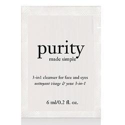 (贈品) philosophy肌膚哲理 純淨清爽3合1洗面乳體驗禮