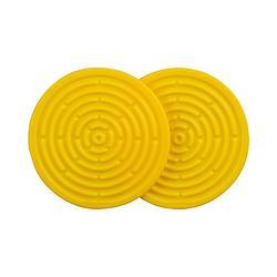 耐熱矽膠迷你隔熱墊2入-閃亮黃