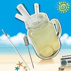 SEEYOU 環保玻璃吸管5件組IC-5(不含杯子)