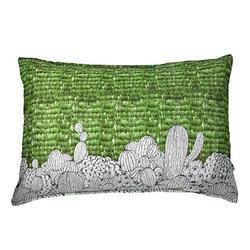 加購-Yvonne平織仙人掌枕套-草綠