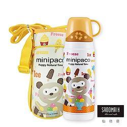贈品-仙德曼SADOMAIN 法國浣熊寶貝真空保溫瓶-黃色系