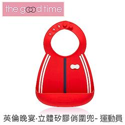 【加購】TheGoodTime寶寶矽膠圍兜-運動員