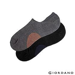 吸汗棉紗防護機能襪(2雙入)-01 黑/深黑-L